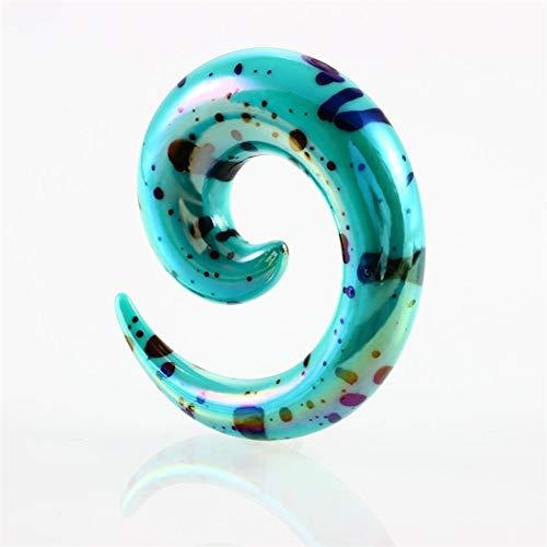 AdorabFruit 12pcs / Set De 8 Colores del Oído Espiral Que Estira La Joyería De Acrílico del Cuerpo Tapers Oído De La Falsificación Afila El Oído De La Falsificación Kit Expander Plug Túnel Accesorios