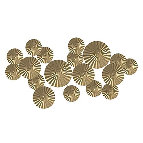ZHENAO la Escultura Del Metal Ilustraciones de Metal Arte, Tapiz Abstracto de Oro Flor de Pared, Decoración de la Pared de la Tienda de Ropa Decoración Del Hogar, 120X63Cm Listo par