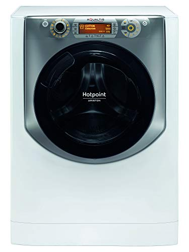 Hotpoint AQ97D 49D IT, Lavatrice a Carica Frontale, 9 kg, A+++-40%, 1400 Giri/Min, Bianco/Argento
