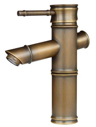 Grifo monomando para lavabo estilo Retro de latón envejecido Sanlingo Iris