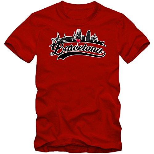 Skyline Camiseta   Hombre   Barcelona   España   Capital   Silueta...