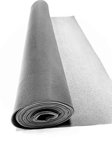"Dark Gray/Charcoal Auto Headliner 3/16"" Foam Backing Fabric Material (2 Yards - 72"" Long)"