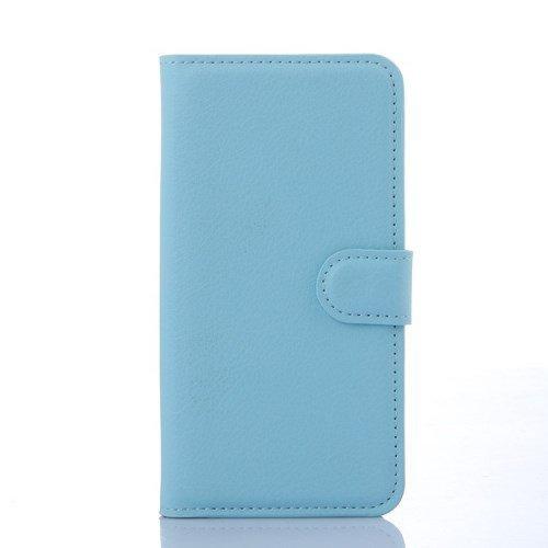 jbTec® Flip Case Handy-Hülle passend für Samsung Galaxy S6 Edge/SM-G925F - Book EINFARBIG - Handy-Tasche Schutz-Hülle Cover Handyhülle Ständer Bookstyle Booklet, Farbe:Baby-Blau