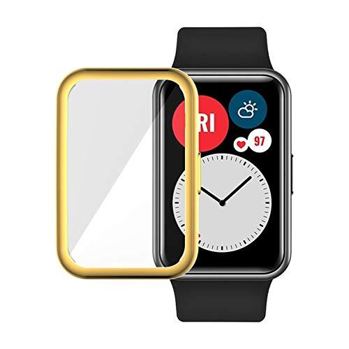 LGFCOK Caso Protector + Correa para Reloj Huawei Fit Relojes Inteligentes Tapa Completa Protector de Pantalla Película Película Pulsera Pulsera Accesorios