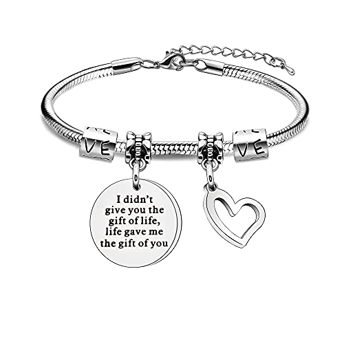 Pulsera para hijastra de Padrastro con texto en inglés 'I Didn't Give You The Gift Of Life, Life Dave Me The Gift Of You'