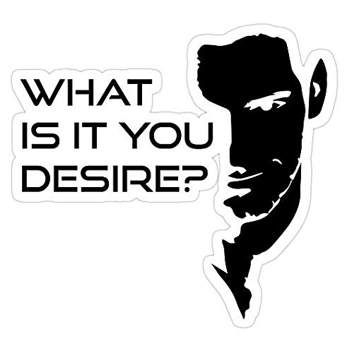 Lucifer Morningstar What is It You Desire, Lucifer morningstar Decal Sticker - Sticker Graphic - Auto, Wall, Laptop, Cell, Truck Sticker for Windows, Cars, Trucks