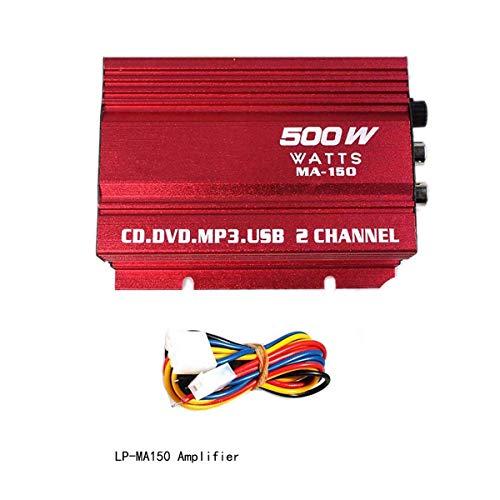 MuChangZi MA150 HiFi Amplificador de Potencia Digital 12V 2 Canales Audio Estéreo...