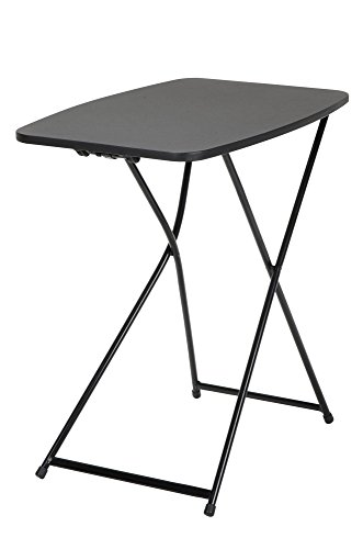 COSCO Multi-Purpose, Adjustable Height Personal Folding Activity Table, 2 Pack, Black