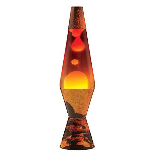 Lamp Lava 2149 14.5-inch, Decal Colormax, Color Max Volcano Base/White Wax/Clear Liquid/Tri-Colored Globe