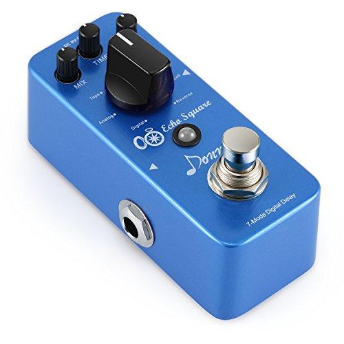 Donner Echo Square Digital Delay con 7 Modos Pedal de Efectos True bypass para Guitarra