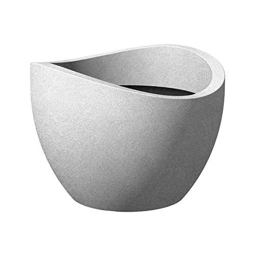 Pflanzgefäß Wave Globe, Stony Grey, Kunststoff D 60 x H 44,7 cm