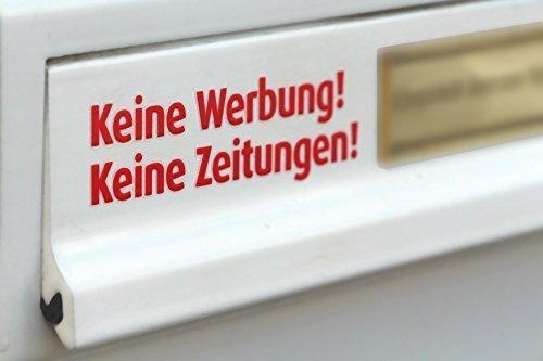 immi Keine Werbung, Keine Zeitungen Briefkasten-Tattoo, freist.Buchst. (Rot)