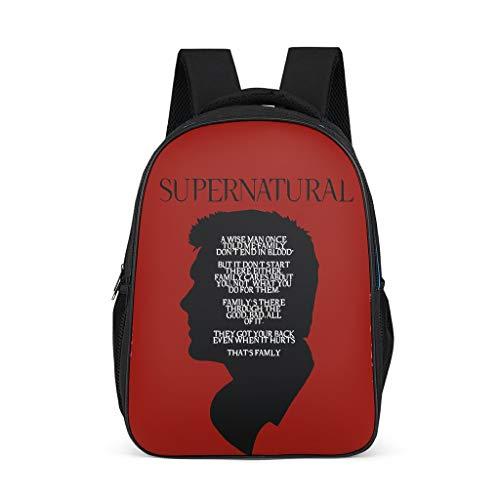 Mochila para niños pequeños, con logo Supernatural, mochila para niños y niños, multifunción, mochila de senderismo para estudiantes gris brillante. talla única
