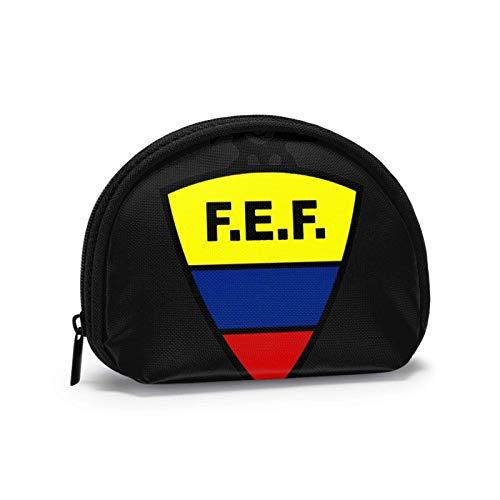Borsa a portafoglio piccola borsa per monete da calcio Ecuador Borsa mi-ni per cosmetici Borsa con cerniera per donna