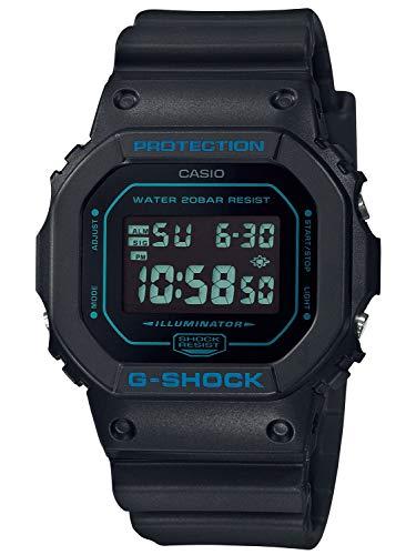 CASIO Herren Digital Quarz Uhr mit Resin Armband DW-5600BBM-1ER