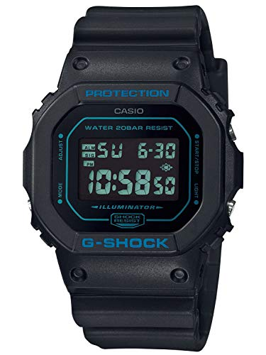 CASIO Herren Digital Quarz Uhr mit Resin Armband DW-5600BBM-1ER