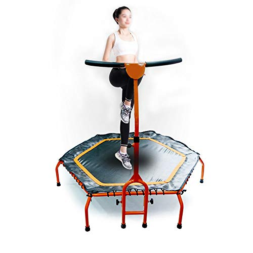 YY-JJ Fitness Trampoline Mini Foldable Trampoline With Adjustable Armrest Fitness Training Trampoline,home Indoor Fitness Jumping Bed,special Elastic Rope Jumping Bed For Gym,fitness trampoline