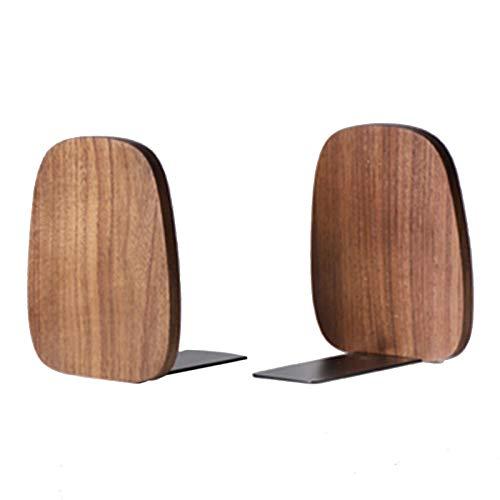 Organizador de escritorio Estante de madera maciza Black Walnut y Beech Bookends utilizados para el almacenamiento de libros de escritorio en el estudio de la oficina Espacio de almacenamiento decorat