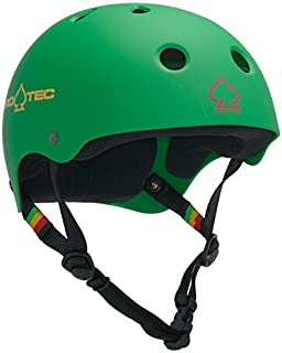 PRO-TEC Classic Matte Rasta Green Skateboard Helmet - (Certified) - Junior / 20.1