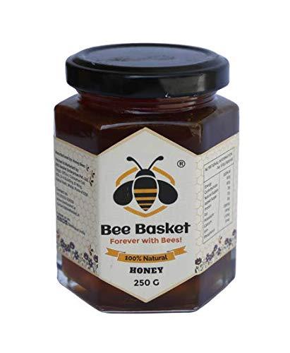 Bee Basket 100% Natural Unprocessed Litchi Western Ghat Forest Honey, (Pack of 1, 250GMS)