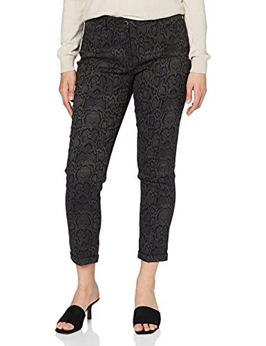BRAX Damen Style Maron Snake Jacquard Slim Fit Modern Hose, Brown, W(Herstellergröße: 38K)