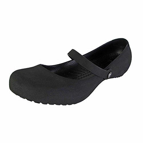 Crocs Womens Alice Suede Mary Jane Shoes, Black/Black, US 5