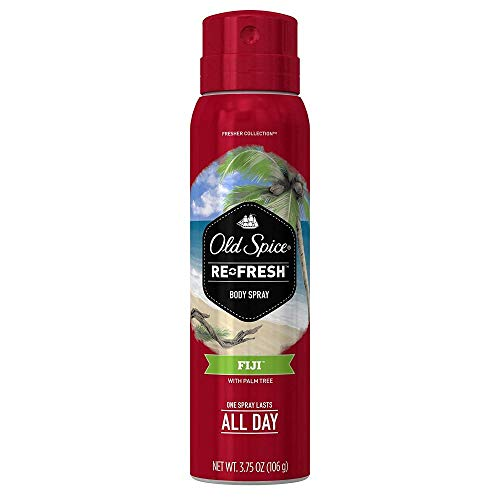Old Spice Fresh Collection Body Spray, Fiji, 3.75 oz, Pack of 4