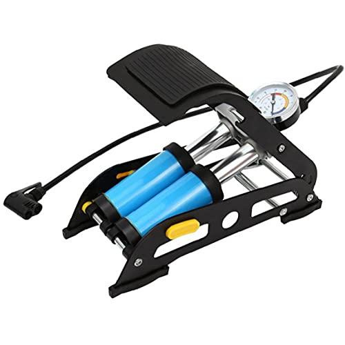 NIDONE Bomba de tubería de tubería de Acero de Doble Cilindro Inflador de Tubo de Bicicleta para MTB Motocicleta Bola de Aire Colchón de Aire Inflables