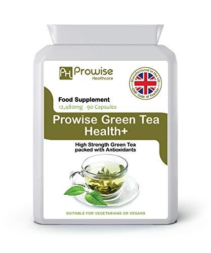 Gewichtsverlies van groene thee 12480 mg 90 capsules - VK vervaardigd volgens GMP Gegarandeerde kwaliteit - Geschikt voor vegetariërs door Prowise Healthcare