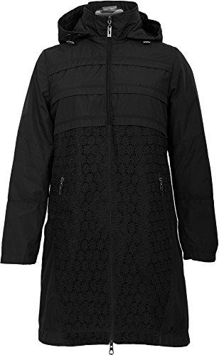 Grimada 023 dames overgangsjas korte jas FineBabyCat met capuchon zwart