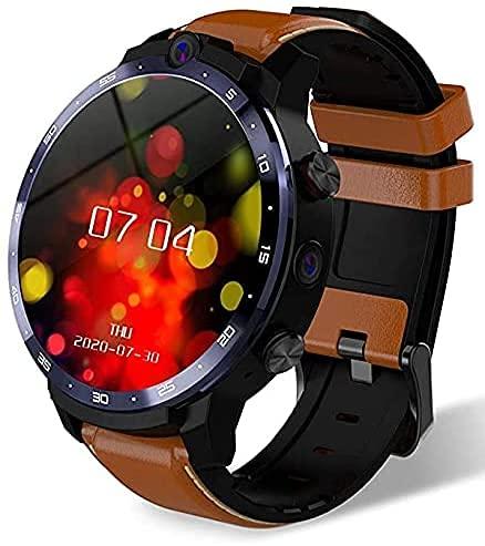 Reloj Inteligente LEMFO LEM12 Pro para teléfonos Android e iOS, batería de 900 mAh Pantalla de 1,6 Pulgadas LTE 4G 4GB + 64GB Memoria 5.0mp / 8.0mp Cámara Dual con desbloqueo Facial (Brown)
