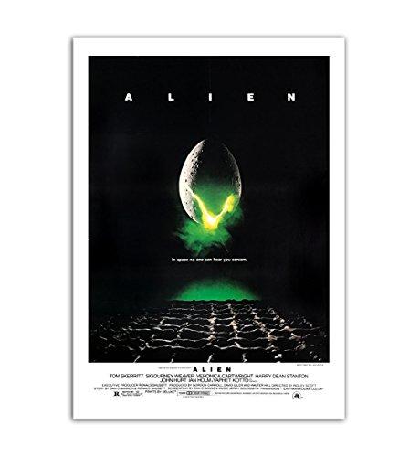 BaikalGallery Poster Alien (1979) -(F1168) -Impresión en Papel Fotográfico Gramaje 250gr.- Laminado en Acabado Satinado- (50x75cm)
