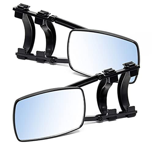 Wiltec Universal Caravan-Spiegel 190×120mm, Aufsatzspiegel für Wohnwagen, Zusatzspiegel klappbar