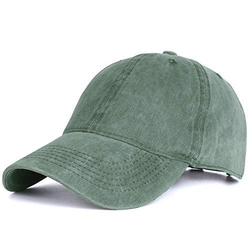 Gorra de béisbol de algodón Lavado Hombres, Gorra Vintage con Snapback para Mujer, Gorras Ajustables para Exteriores, Gorra Negra para papá, Hueso-Green