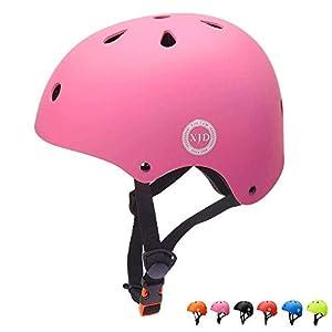 XJD Kinder Jugend Fahrradhelm Klassiker 1.0 CE-Zertifizierung für Multisport Fahrrad Roller Skateboard 3-13 Alt(Pink S)