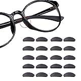 12 Paia Cuscinetti di Naso Adesivo Antiscivolo in Silicone Fermaocchiali per Occhiali Occhiali da Sole (1mm nero)