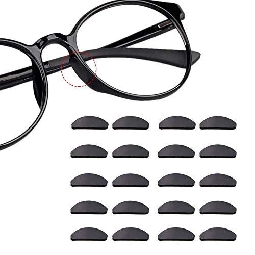 12 paar zelfklevende neuspads anti-slip siliconen bril pads voor glazen zonnebril bril (1 mm zwart)