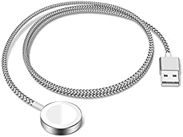 SEQI Watch Charger, Nylon Braided Watch Charging Cable Cord with High Strength and Toughness, Magnetic Wireless Portable...