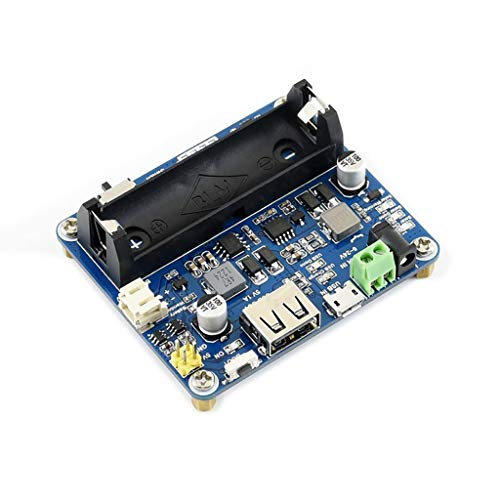 Waveshare Solar Power Management Module for 6V~24V Solar Panel Supports Solar Panel/USB Connection Battery Charging Onboard MPPT Set Switch DC-002 Jack/Screw Terminal Input