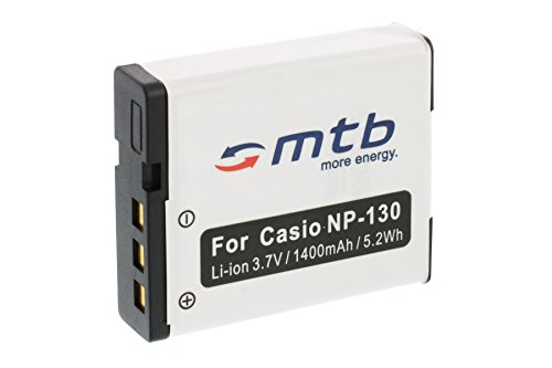 Ersatz-Akku NP-130 für Casio Exilim EX-H30, H35, ZR100, ZR200, ZR300, ZR310, ZR320. (Siehe Liste)