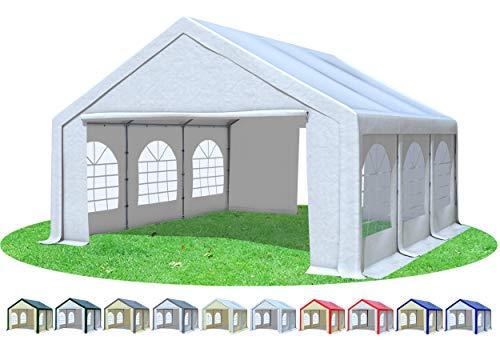 Stabilezelte Partyzelt 5x6m Modular Professional PVC 500 g/m² mit Fenster Weiss