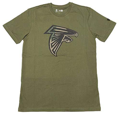 New Era Camo Logo Shirt - NFL Atlanta Falcons Oliv - L