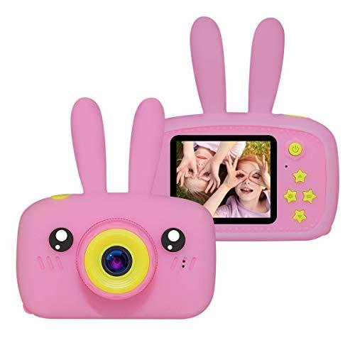 QCHEA A Prueba de Golpes cámara de vídeo cámara, 12MP Mini Juguetes cámara Digital for niños de 3-12 años