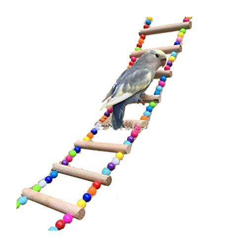 LJSLYJ - Escalera de Cuerda para Mascota, Jaula de Juguetes para Loros, 9 escaleras