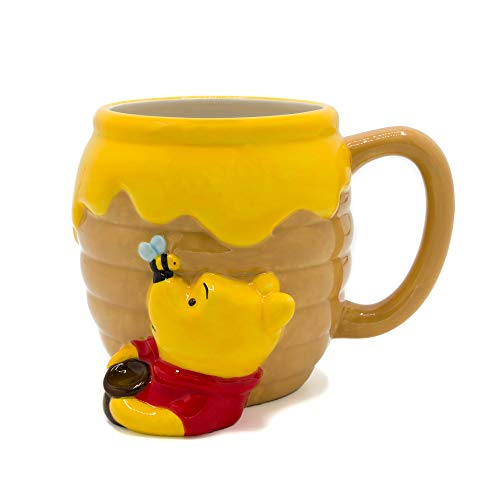 Silver Buffalo WTP3063D Winnie the Pooh Honey Pot Ceramic 3D Sculpted Mug, 23-ounces, Brown
