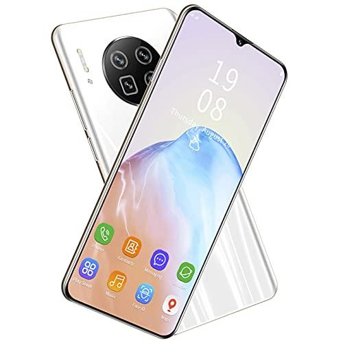 Mate43 Pro 6.26En Teléfonos Inteligentes, Desbloqueo Facial Teléfono Móvil con Potente Procesador y Pantalla Completa, Teléfono De Doble Tarjeta y Modo De Espera para Entretenimiento(Blanco)