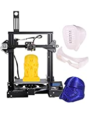 Decdeal 3D Ender-3 Pro High Precision 3D Printer DIY Kit MK-10 Extruder with Resume Printing Function Heatbed Support 220 * 220 * 250mm Printing Size for Home & School Use
