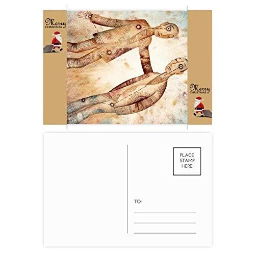 Mei Juni Gemini sterrenbeeld Zodiac Kerstman Gift Ansichtkaart Thanks Card Mailing 20 stks