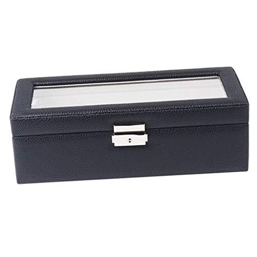 Caja de reloj vintage, almacenamiento 5, organizador de reloj para hombre, vitrina de joyería, PU