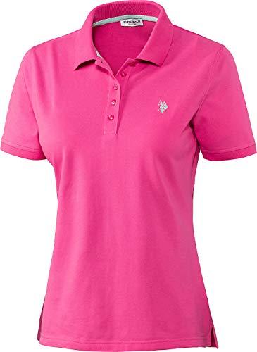 U.S. POLO ASSN. Damen Poloshirt in Pink, aus Stretch Piqué Stoff, mit Knopfleiste, Elegantes Kurzarm Damen Hemd, Taillierter Schnitt, Damenoberbekleidung, Gr. S - XL